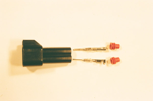 Male USCAR / EV6 Style White Fuel Injector Connector